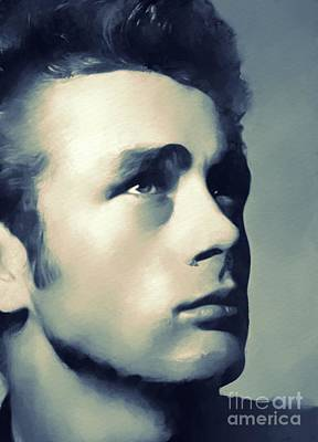 James Dean, Hollywood Classics Art Print