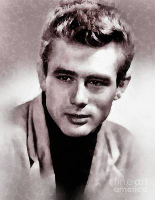 Elvis Presley Painting - James Dean Hollywood Legend by John Springfield