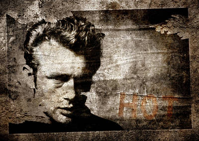 Dean Digital Art - James Dean Hot by Carol Leigh