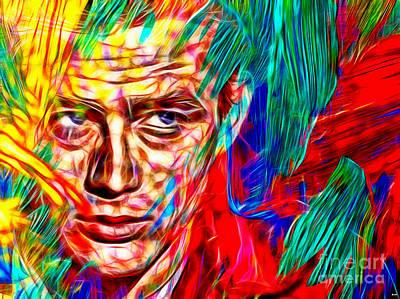 James Dean Mixed Media - James Dean In Color by Daniel Janda