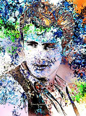 Photograph - James Dean In Pop Art by Annie Zeno