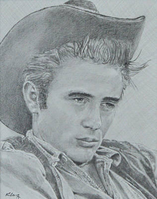 James Dean Drawing - James Dean by Kevin Long