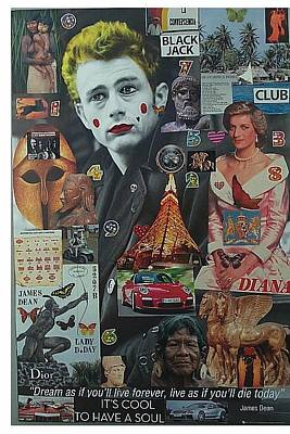 Life Is What Mixed Media - James Dean Lady D. Day by Francesco Martin