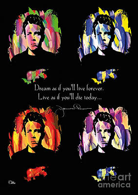 James Dean Art Print by Mo T