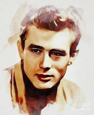 Actors Royalty-Free and Rights-Managed Images - James Dean, Movie Legend by John Springfield