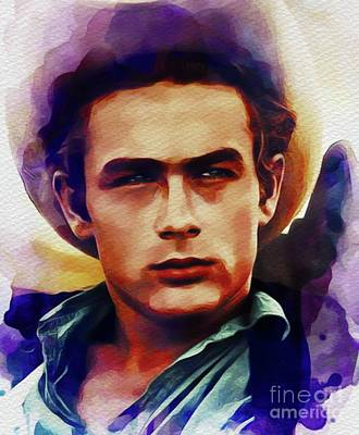 Actors Royalty-Free and Rights-Managed Images - James Dean, Movie Star by John Springfield