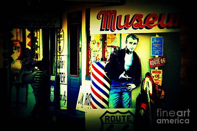 James Dean Photograph - James Dean On Route 66 by Susanne Van Hulst