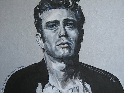 James Dean One Art Print by Eric Dee