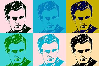 Actors Royalty-Free and Rights-Managed Images - James Dean Pop Art by Dan Sproul