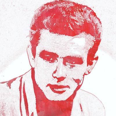 Actors Royalty-Free and Rights-Managed Images - James Dean Pop Art by Mary Bassett