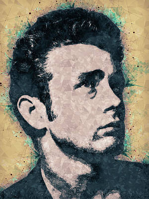James Dean Portrait Art Print