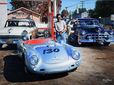 Cadillacs Painting - James Dean by Ruben Duran