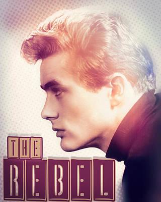 Digital Art - James Dean - The Rebel by Darlanne