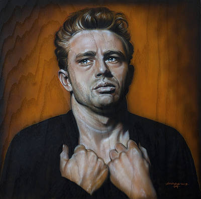 James Dean Wall Art - Painting - James Dean by Timothy Scoggins