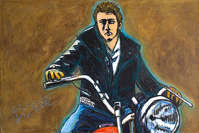 James Dean Two Original by Brian Stone