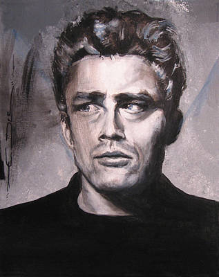 Celebrity Portraits Painting - James Dean Two by Eric Dee