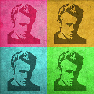Actors Mixed Media - James Dean Vintage Pop Art by Design Turnpike