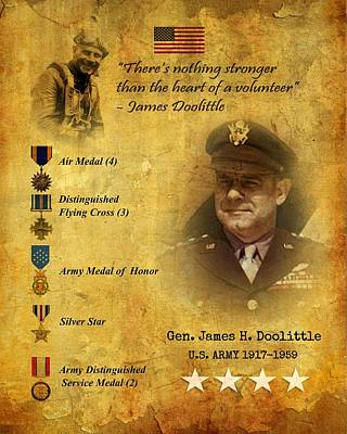 Digital Art - James Doolittle Tribute  by John Wills