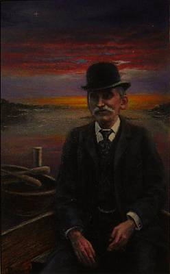 Painting - James E. Bayles Sunset Years by James Berger