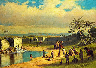 Photograph - James Fairman Oriental Oasis 1872 by Munir Alawi