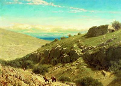Photograph - James Fairman Palestine Hills 1872 by Munir Alawi