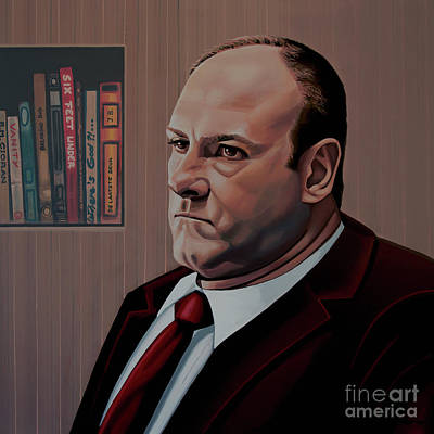 Golden Globe Painting - James Gandolfini Painting by Paul Meijering