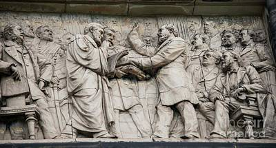 Photograph - James Garfield Bas Relief by David Bearden