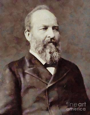 James Garfield Painting - James Garfield, President Of The United States By Sarah Kirk by Sarah Kirk