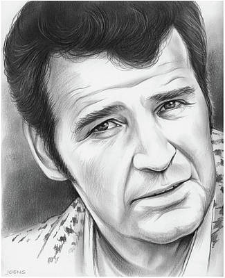 Drawing - James Garner 12mar18 by Greg Joens
