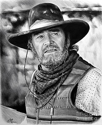 Drawing - James Garner As Captain F Call by Andrew Read