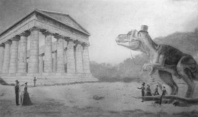 T Rex Drawing - James Goes To Sicily  by Frank Pariso