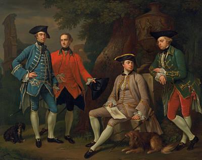 Nathaniel Painting - James Grant Of Grant, John Mytton, The Hon. Thomas Robinson, And Thomas Wynne by Nathaniel Dance
