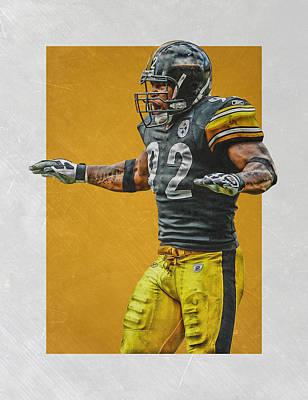 Mixed Media - James Harrison Pittsburgh Steelers Art 2 by Joe Hamilton