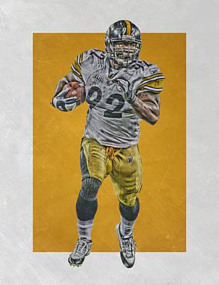 Mixed Media - James Harrison Pittsburgh Steelers Art by Joe Hamilton