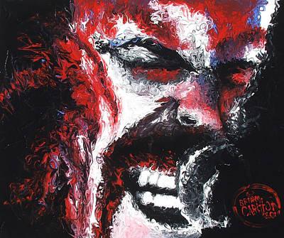 Heavy Metal Painting - James Hetfield by Brian Carlton