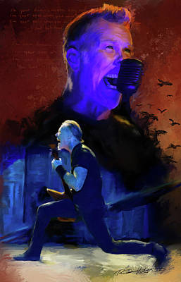 Heavy Metal Painting - James Hetfield / Metallica - '' Sad But True'' by Rico Kohlstedt