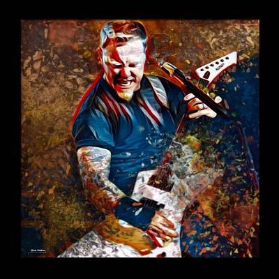 Lead Singer Digital Art - James Hetfield Metallica by Scott Wallace