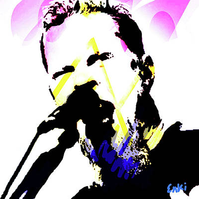 Robert Plant Mixed Media - James Hetfield Metallica  by Enki Art