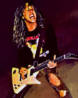 Metallica Digital Art - James Hetfield by Scott Wallace