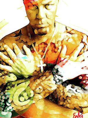 Def Leppard Mixed Media - James Hetfield Tattoos  by Enki Art