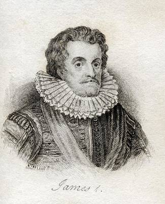 James I 1566-1625 First Stuart King Of Art Print by Vintage Design Pics