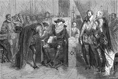 James I Appoints Bacon Lord Chancellor Art Print