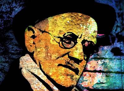 Modernist Mixed Media - James Joyce 2 by Otis Porritt