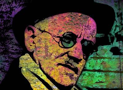 Modernist Mixed Media - James Joyce 3 by Otis Porritt