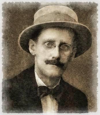 Dracula Painting - James Joyce Author by John Springfield