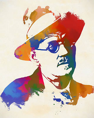 Painting - James Joyce by Dan Sproul