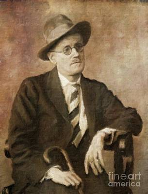 James Joyce, Literary Legend By Mary Bassett Art Print by Mary Bassett