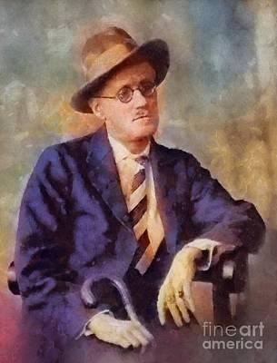 Literature Painting - James Joyce, Literary Legend by Sarah Kirk
