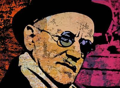 Modernist Mixed Media - James Joyce by Otis Porritt