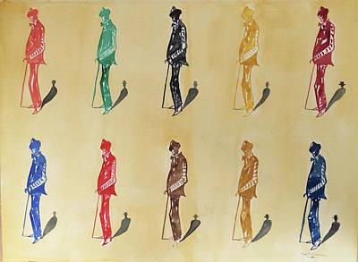 Painting - James Joyce, Paris by Roger Cummiskey